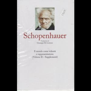 I grandi filosofi - Schopenhauer - n. 27 - settimanale - 1/5/2020 - copertina rigida