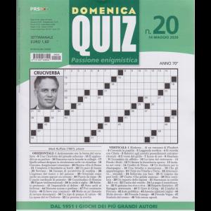 Domenica Quiz - n. 20 - 14 maggio 2020 - settimanale