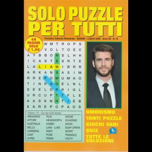 Solo  Puzzle  per tutti - n. 72 - bimestrale - giugno - luglio 2020 - 68 pagine