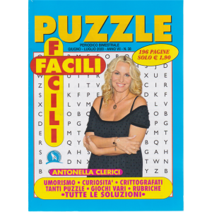 Puzzle Facili Facili - n. 38 - bimestrale - giugno - luglio 2020 - 196 pagine