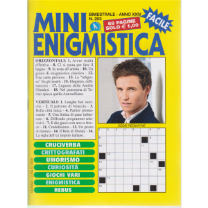 Mini Enigmistica - n. 203 - bimestrale - giugno - luglio 2020 - 68 pagine