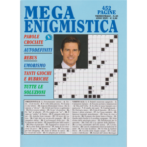 Mega enigmistica - n. 65 - trimestrale - giugno - agosto 2020 - 452 pagine