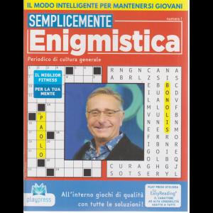 Semplicemente enigmistica - n. 1 - bimestrale - 16/5/2020 - Paolo Bonolis