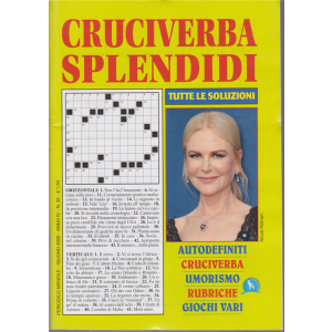 Cruciverba Splendidi - n. 35 - mensile - giugno 2020 -