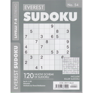 Everest Sudoku - Livelli 7-8 estremo - n. 54 - bimestrale -