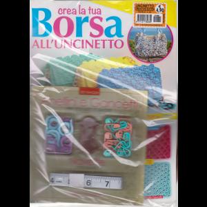 Uncinetto creativo extra - Crea la tua borsa all'uncinetto - n. 69 - mensile - + Anellini e gancetti + navette - + metro a nastro