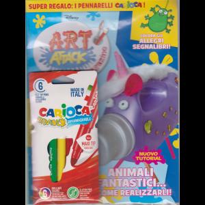 Art Attack - + un regalo : 6 pennarelli Carioca - n. 40 mensile - 25 maggio 2020