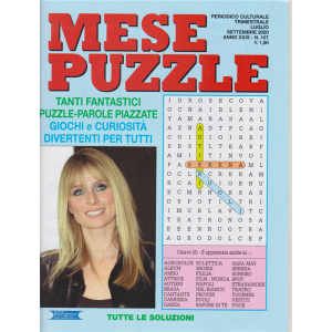 Mese Puzzle - n. 107 - trimestrale - luglio - settembre 2020 -