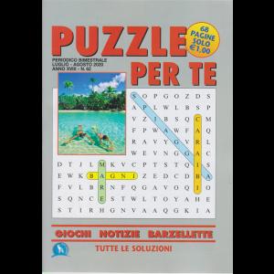 Puzzle per te - n. 62 - bimestrale - luglio - agosto 2020 - 68 pagine