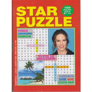 Star Puzzle - n. 308 - bimestrale - luglio - agosto 2020 - 100 pagine