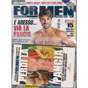 For men  magazine  - + il libro Tutto il meglio di For men Perdi la pancia - n. 208 - giugno 2020 - mensile