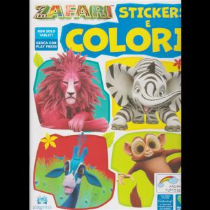 Zafari Sticker e colori - n. 3 - giugno - luglio 2020 - bimestrale -