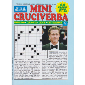 Mini Cruciverba - n. 168 - bimestrale - luglio - agosto 2020 - 68 pagine