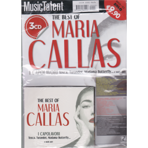 Music Talent Var.02 - The best of Maria Callas - rivista + 3 cd -