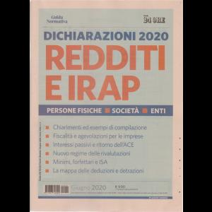 Guida Normativa - Dichiarazioni 2020 Redditi e Irap - n. 2 - giugno 2020 - mensile