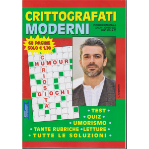 Crittografati Moderni - n. 65 - bimestrale - luglio - agosto 2020 - 68 pagine