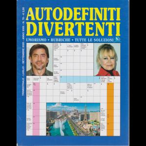 Autodefiniti  Divertenti - n. 79 - trimestrale - luglio - settembre 2020 -