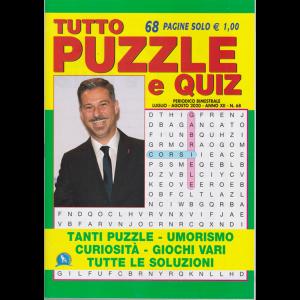 Tutto Puzzle e Quiz - n. 68 - bimestrale - luglio - agosto 2020 -
