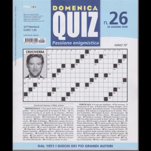 Domenica Quiz - n. 26 - 25 giugno 2020 -
