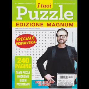 I Tuoi Puzzle -edizione magnum - n. 1 - trimestrale - aprile/maggio/giugno 2019 - speciale primavera - 240 pagine