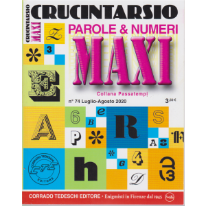 Maxi Crucintarsio - n. 74 - luglio - agosto 2020 - trimestrale -