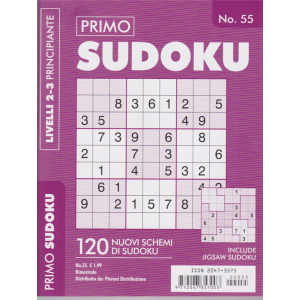 Primo Sudoku - n. 55 - bimestrale - livelli 2-3 principiante