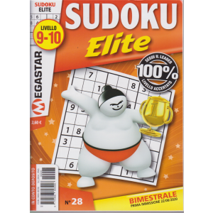 Sudoku Elite - Liv.9-10 - n. 28 - bimestrale - 22/6/2020 -