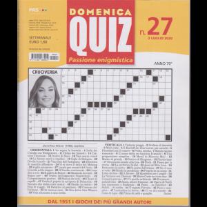 Domenica Quiz - n. 27 - 2 luglio 2020 - settimanale