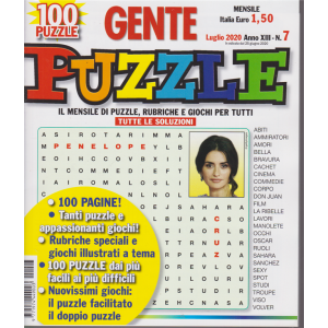 Gente Puzzle - n. 7 - mensile - luglio 2020 - 100 pagine!