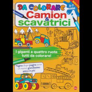 Da colorare - Camion & Scavatrici - n. 1 - 3-7 anni - bimestrale - luglio - agosto 2020 -