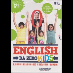 English da Zero Kids - Dvd  n. 4 - settimanale - ideale per bambini da 0 a 12 anni