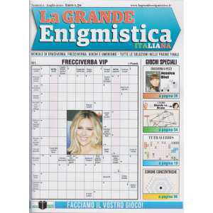 La grande enigmistica italiana - n. 1 - luglio 2020 - mensile