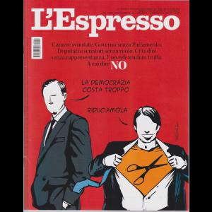 L'espresso -n. 27 - settimanale - 28 giugno 2020