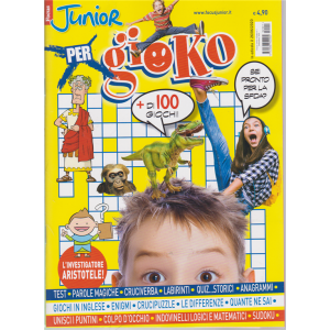 Focus Junior X Gioco - n. 1 - 26/6/2020 - + di 100 giochi!