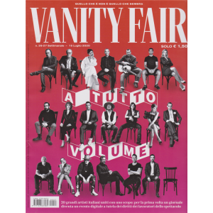 Vanity Fair  - n. 27 - settimanale - 15 luglio 2020