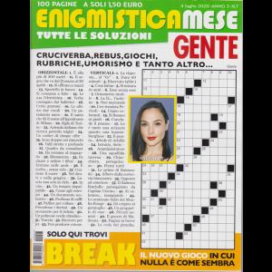Enigmistica Mese Gente - n. 7 - 4 luglio 2020 - 100 pagine