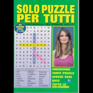 Solo  Puzzle  per tutti - n. 73 - agosto - settembre 2020 - bimestrale - 68 pagine
