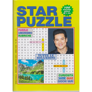 Star Puzzle - n. 301 - bimestrale - maggio - giugno 2019 - 100 pagine