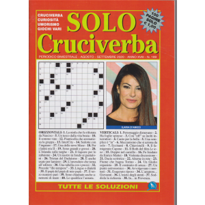 Solo Cruciverba - n. 189 - bimestrale - agosto - settembre 2020 - 100 pagine