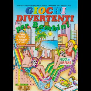 Giochi Divertenti  per bambini - n. 90 - bimestrale - agosto settembre 2020 - 100 pagine tutte a colori