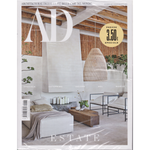 Ad-Architectural Digest. Le più belle case del mondo - n. 466 - luglio - agosto 2020 - mensile -