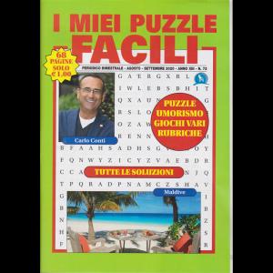I miei puzzle  facili - n. 73 -bimestrale - agosto - settembre 2020 - 68 pagine