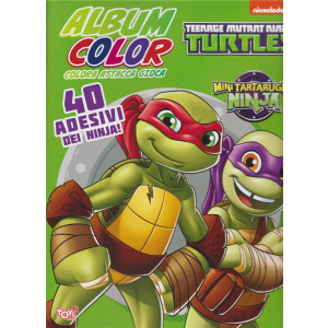 Toys2 Color Game - Album color - Teenage mutant Ninja turtles - n. 39 - bimestrale - 16 luglio 2020 -
