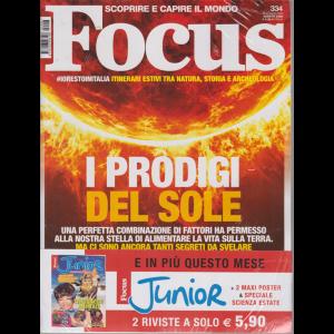 Focus + Focus Junior - n. 334 - agosto 2020 - mensile - 2 riviste