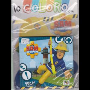 Sticker & Color - Io coloro con Sam il pompiere - album + libro con copertina rigida - Gita al faro! - n. 7 - 14/7/2020 - bimestrale -