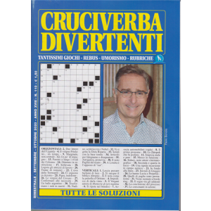 Cruciverba divertenti - n. 110 - bimestrale - settembre - ottobre 2020 -