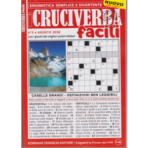 I Cruciverba Facili - n. 3 - agosto 2020 -