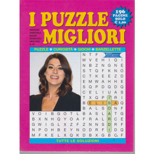 I puzzle migliori - n. 169 - bimestrale - maggio - giugno 2019 - 196 pagine