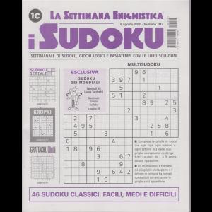 La settimana enigmistica - i sudoku - n. 107 - 6 agosto 2020 - settimanale
