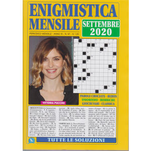 Enigmistica  Mensile - n. 97 - Vittoria Puccini - settembre 2020
